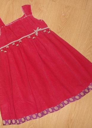 Нарядное платье,сарафан monsoon,1.5-2 года,92 см, микровельвет, италия
