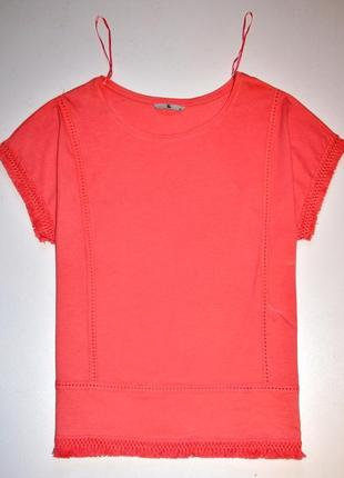 Tu футболка лососевого цвета красиво украшена бахромой. 4хl , 20-ка