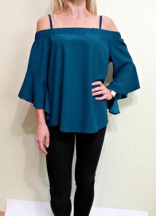 Красивая блуза с открытыми плечами 14