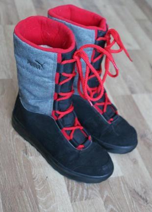 Шикарні чоботи puma з gore-tex ботинки сапоги