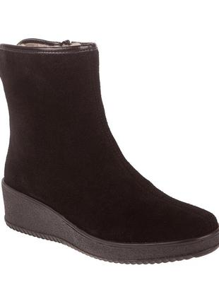 965ц женские ботинки rieker,замшевые,на низком ходу,на толстой подошве,на платформе