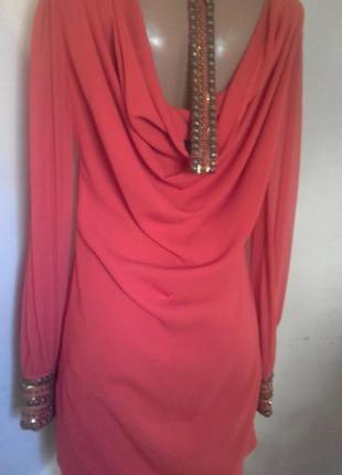 Плаття на довгий рукав з оригінальною спиною warehouse