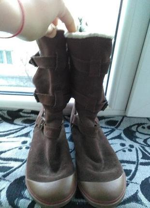 Замшевые сапоги/замшеві чоботи