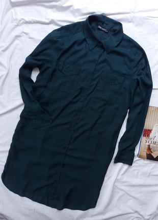 Платье рубашка с разрезами по бокам туника сукня плаття з розрізами туніка