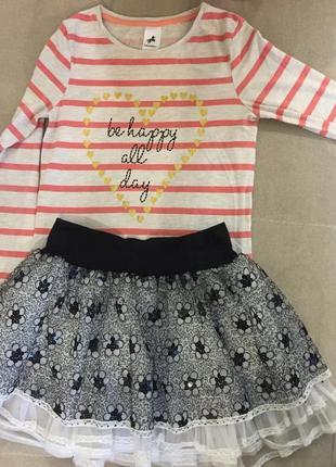 Красивая нарядная кофточка , лоногослив, футболка для девочки3 фото