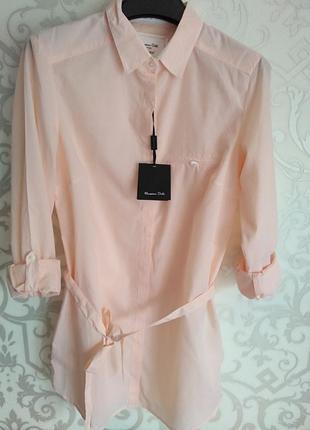 Рубашка massimo dutti персикового цвета