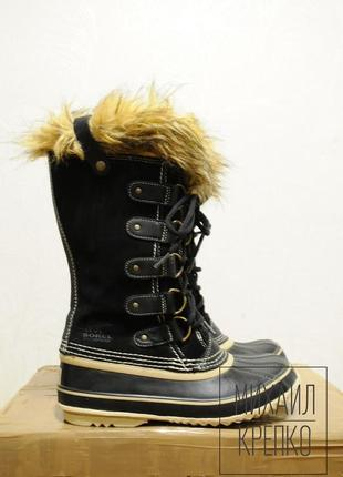 38.5 р, женские зимние теплые ботинки sorel  -40, сапоги черевики зимові