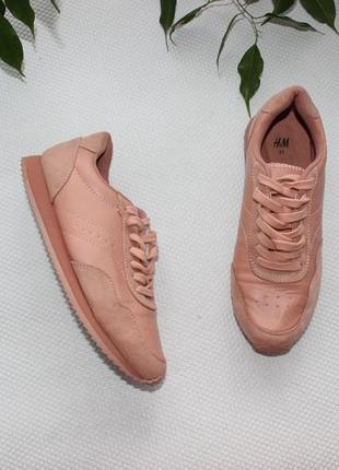 37 23,5см h&m нежные пудровые кроссовки