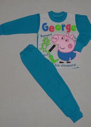 Детская пижама свинка джордж начес1