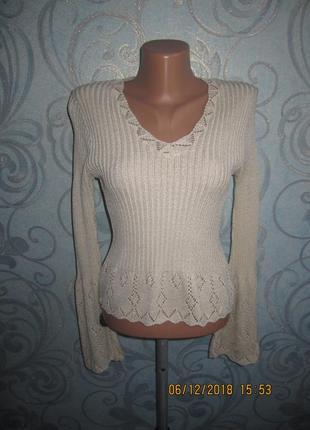 Нежная кофта пуловер lycra diva размер с-м англия