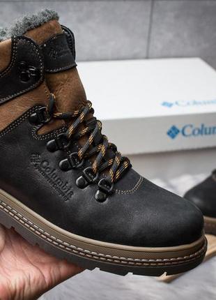 Ботинки кожаные зимние columbia chinook черные