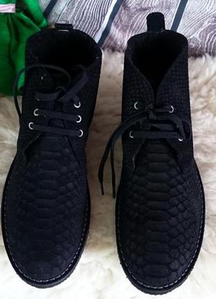 Мужские ботинки дезерты manfield. оригинал. мягкая,  натуральная кожа