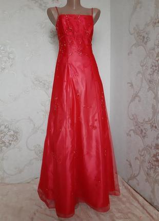 Шикарное вечернее платье / сетка/ с открытой спиной,