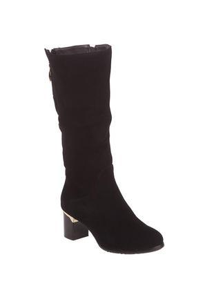 910ц женские сапоги mativi,замшевые,на толстом каблуке,из круглым носком,на каблуке