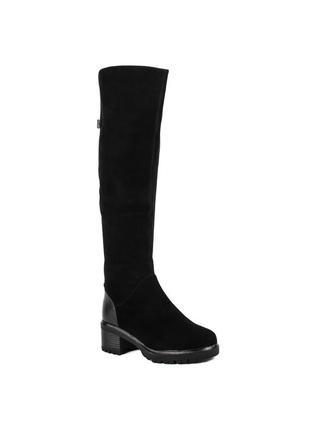 905ц женские ботфорты sufinna,замшевые,на каблуке,на толстом каблуке,на низком ходу