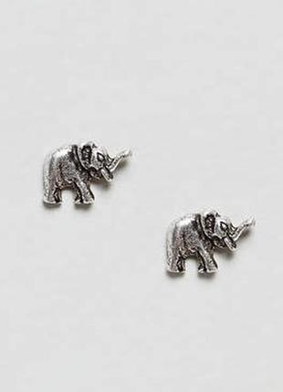 Серьги-гвоздики, сережки от asos elephant