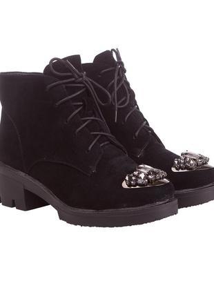 899ц женские ботинки polann,замшевые,на каблуке,на толстом каблуке,на низком ходу