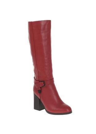 881ц женские сапоги deenoor,кожаные,на каблуке,на толстом каблуке,на танкетке