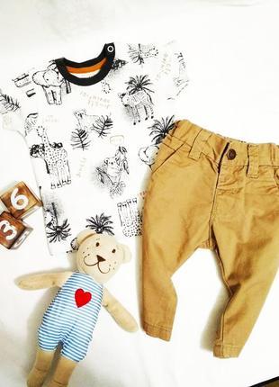 Крутой набор 3-6мес 62-68см. футболка nutmeg и брюки чиносы next