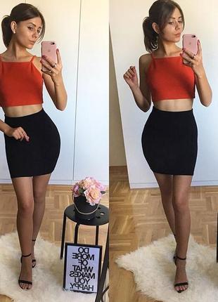 Трикотажная юбка резинка h&m