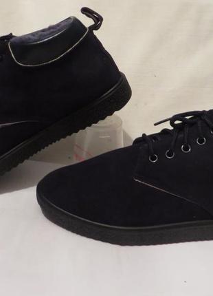 Ботинки замш мех размеры разные