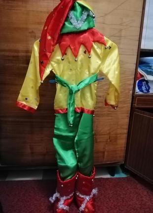 Новогодний костюм петрушки, скомороха.