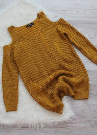 Горчичный свитер new look