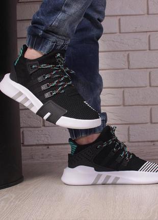 Шикарные мужские кроссовки adidas eqt adv black multi релиз 2018 года