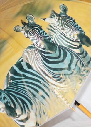 Зонт-трость женский sr k355 зебра