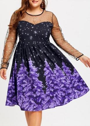 Крутое вечернее нарядное платье , размер 52 - 54