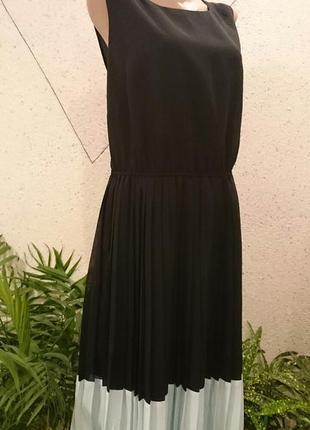 Платье с двумя цветами большой размер