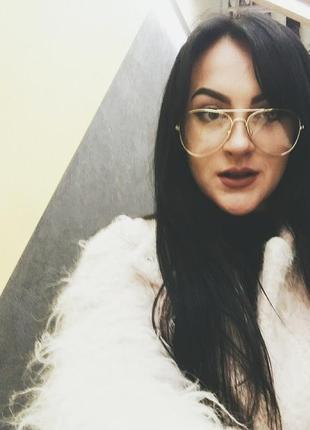 Имиджевые очки с прозрачными стелклами