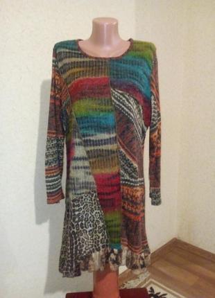 Интересная туника платье на подкладке пог 60