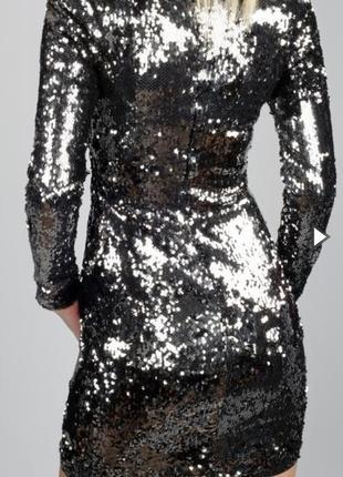 Платье вечернее,  коктейльное, пайетки,  на новый год