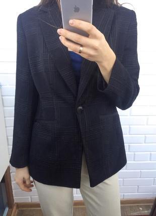 Супер удлиненный пиджак жакет блейзер геометрический рельефный принт