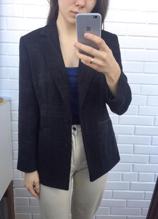 Супер удлиненный пиджак жакет блейзер геометрический рельефный принт5 фото