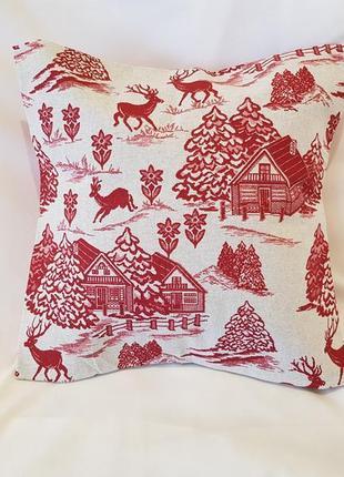 Декоративная подушка зимний лес