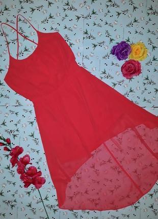 Яркое коктейльное платье с переплетами на спине new look, размер 48-50