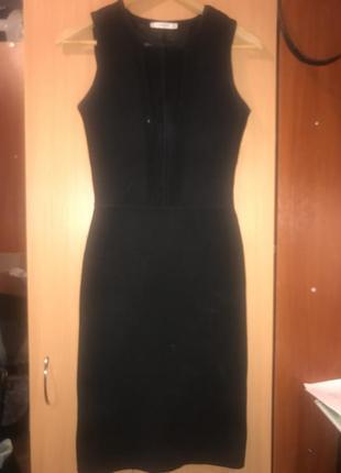 Обиягивающее миди платье из плотной ткани
