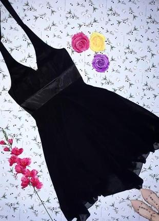 Фирменное короткое вечернее платье new look, размер 46-48