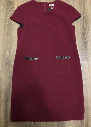 Платье нарядное миди бардо класика сукня класична міді