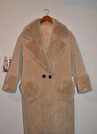 Весеннее пальтишко шубка плюш натуральная шерсть тедди teddy плюш