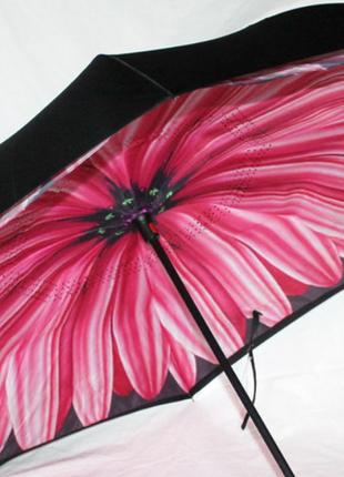 Зонт обратного сложения up brella георгин розовый