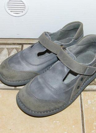 Кожаные туфли vertbaudet, размер 34-35