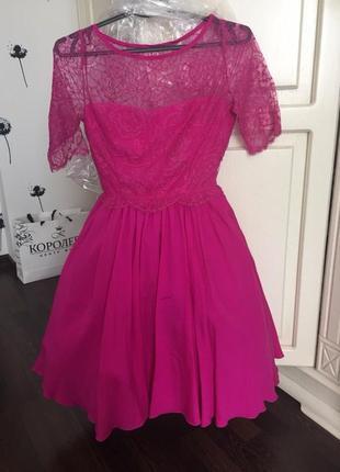 Шикарное платье выпускноепышное кружевное\на выпуск\фатин\кружево\гипюр