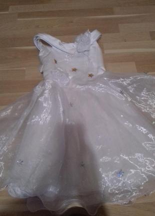 Платье снежинки5
