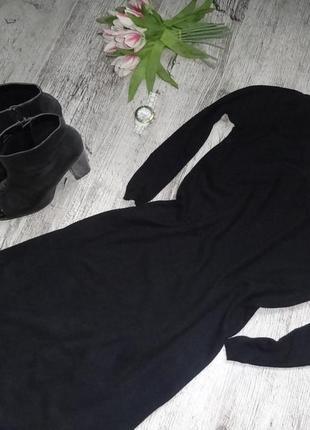 Черное платье с воротником под жемчуг next-10р.