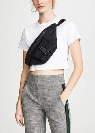 Kendall + kylie оригинал черная поясная сумка бренд оригинал из сша