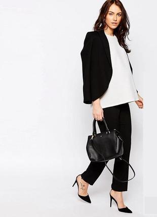 Обнова! брюки классика черные укороченные зауженные для беременных качество бренд h&m