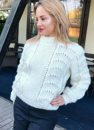 Стильный свитер в цвете кофе с молоком♥